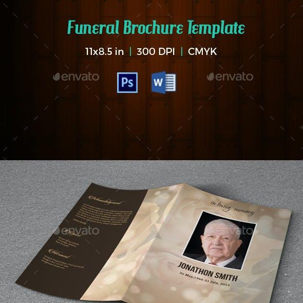Funeral Program Template V199