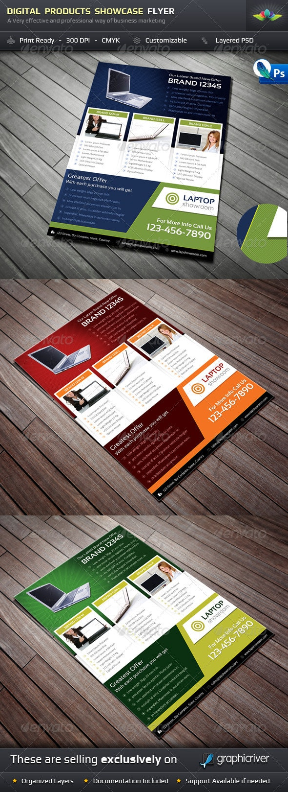 Digital Product Showcase Flyer - Corporate Flyers