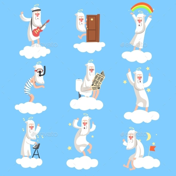 God Character Working Days Set - People Characters
