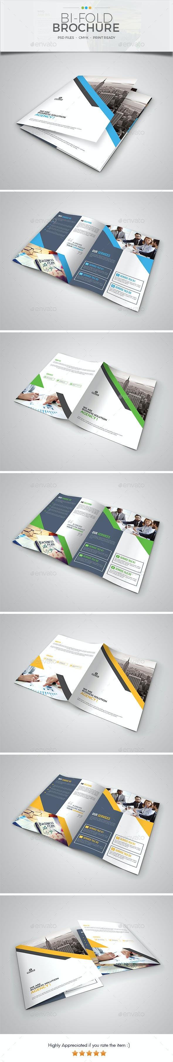 Corporate Bi Fold Brochure Template 05 - Corporate Brochures