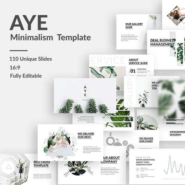 AYE Minimalism Keynote Template