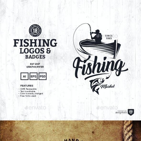 18 Fishing Logos and Badges
