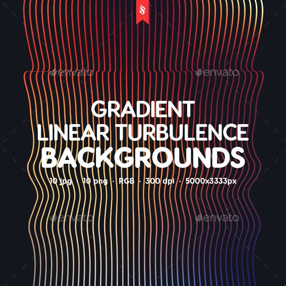 Gradient Linear Turbulence Backgrounds
