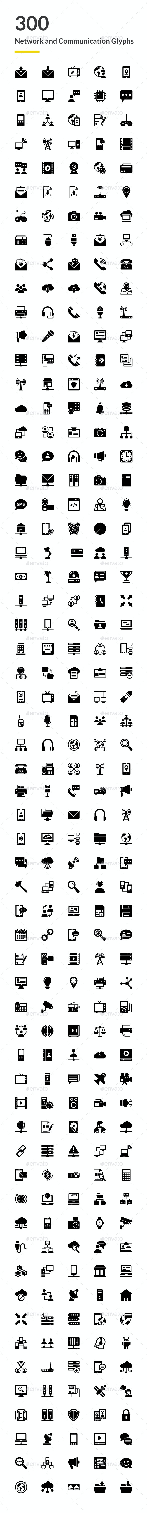 300 Network and Communications Icons - Icons