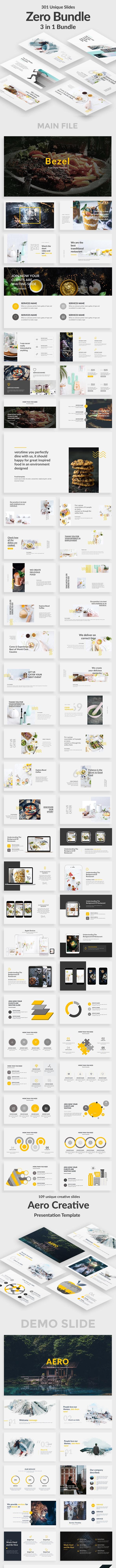 3 in 1 Zero Bundle Creative Powerpoint Template - Creative PowerPoint Templates