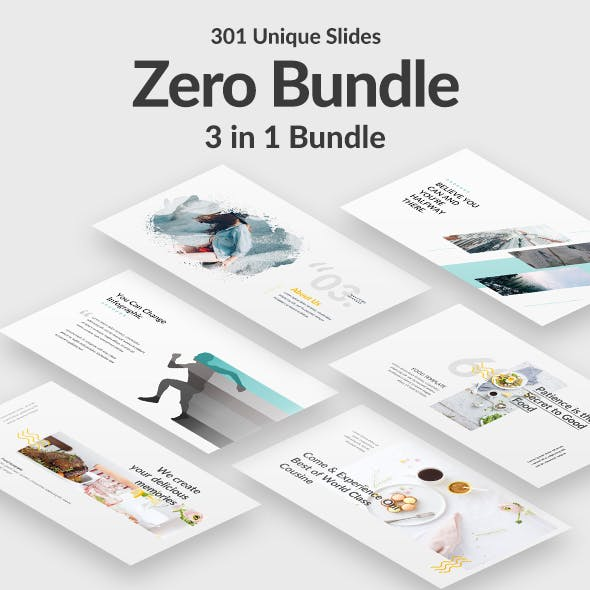 3 in 1 Zero Bundle Creative Powerpoint Template