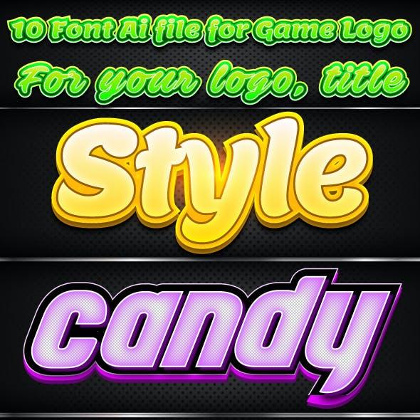 10 Font Illustrator Graphic Styles