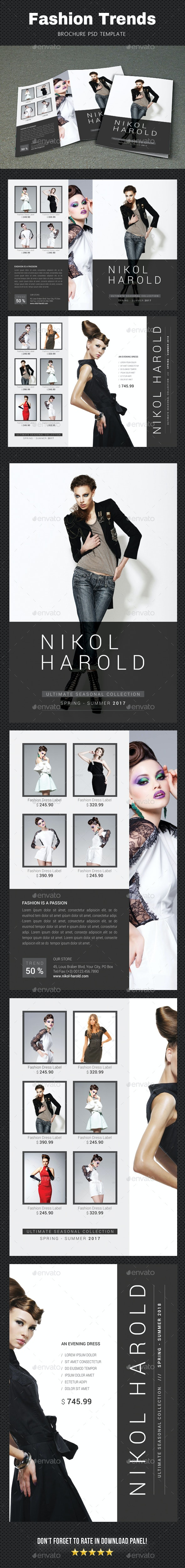 Fashion Brochure 4 - Brochures Print Templates