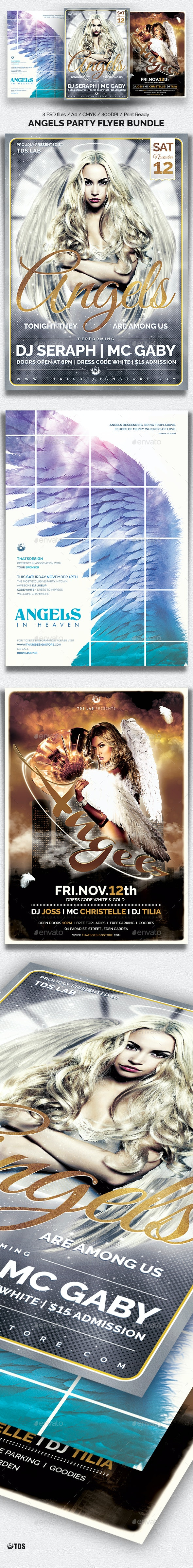 Angels Party Flyer Bundle - Clubs & Parties Events