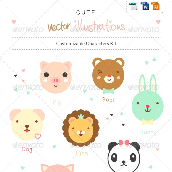 Cute Animals - Character Creation Kit