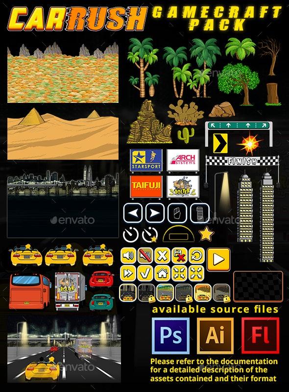 Car Rush - Game Assets - Game Kits Game Assets