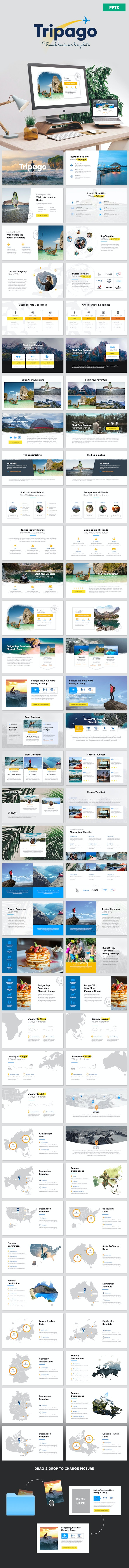 Tripago - Travelling Business Powerpoint Template - PowerPoint Templates Presentation Templates
