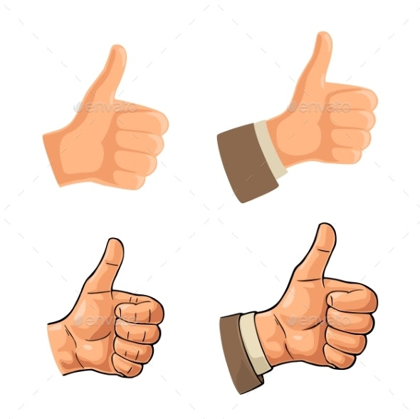 Hand Showing Symbol Like - People Characters