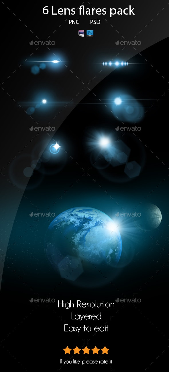 6 Pack Lens Flares 4 - Miscellaneous Backgrounds