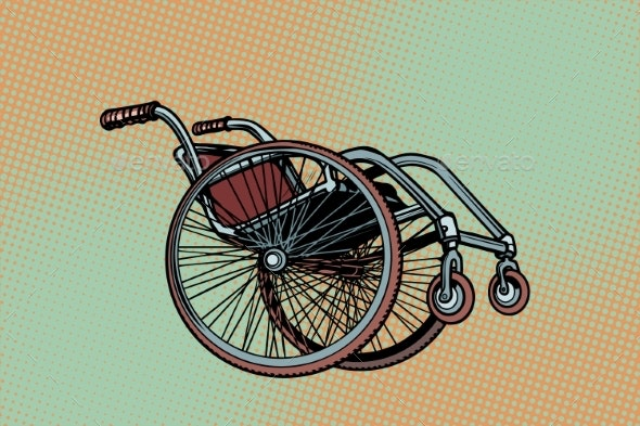 Realistic Wheelchair - Man-made Objects Objects