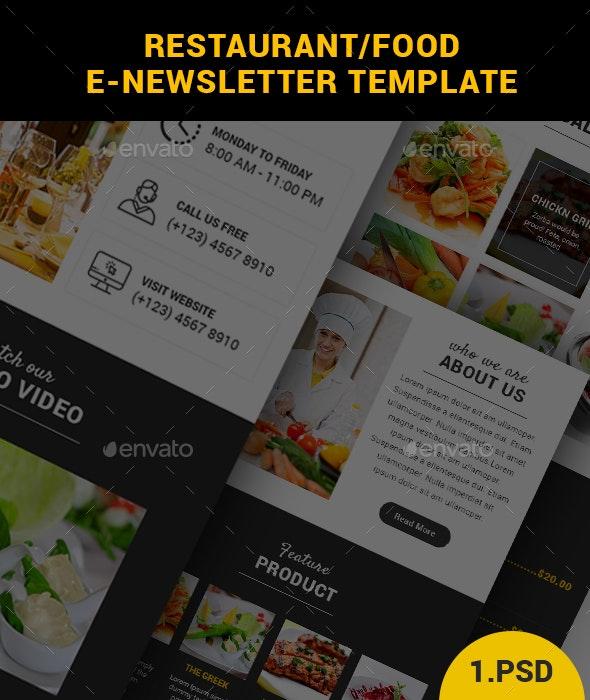 Restaurant/Food E-Newsletter Template