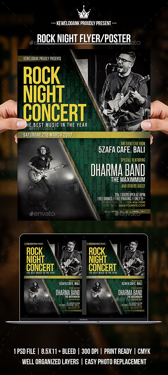 Rock Night Flyer /Poster - Concerts Events