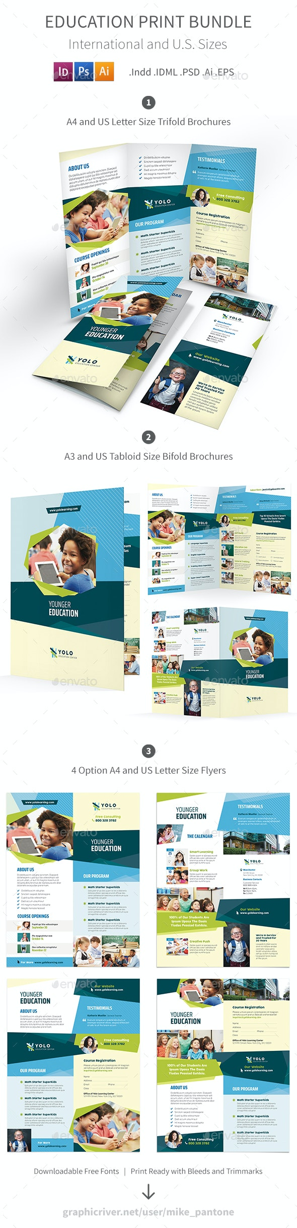 Education Print Bundle 10 - Informational Brochures