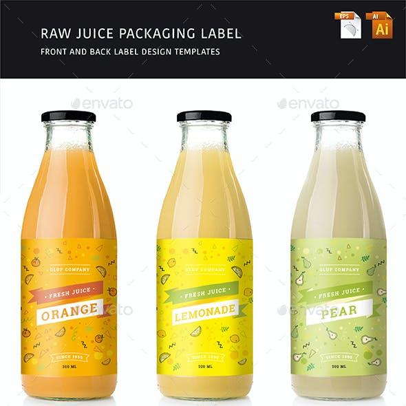 Raw Juice Label - 3 Flavors