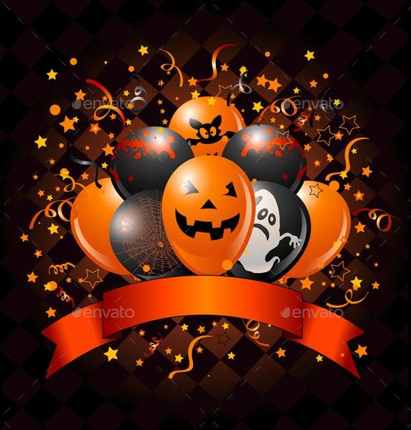 Halloween Balloons Design - Halloween Seasons/Holidays
