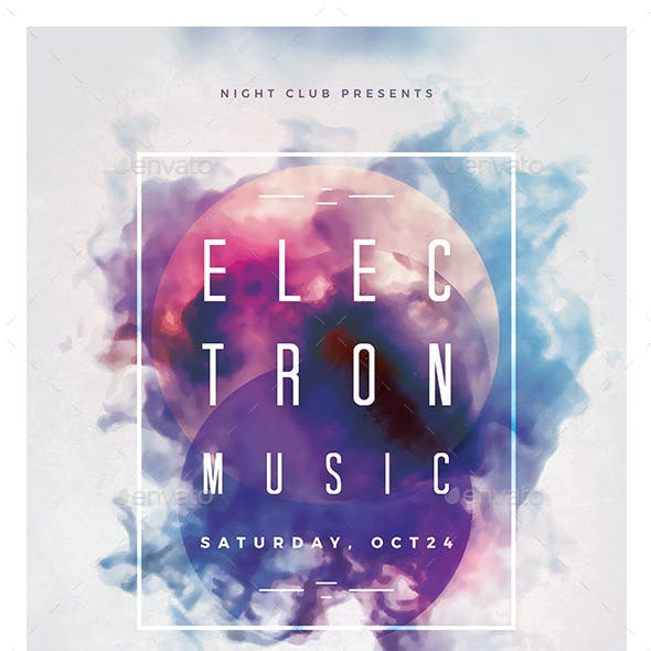 Electron Music Party Flyer