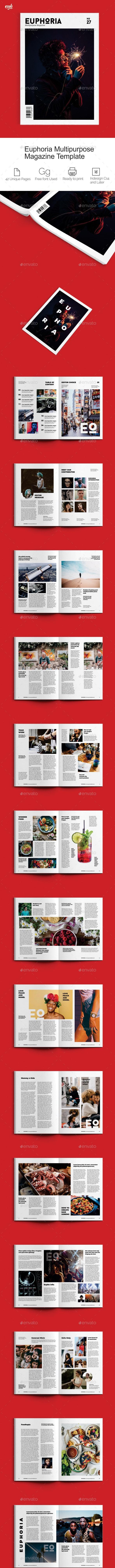 Euphoria Magazine - Magazines Print Templates