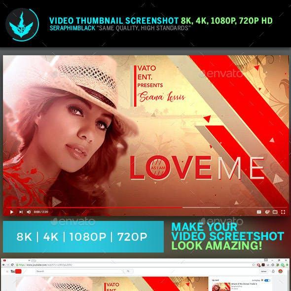 Love Me YouTube Video Artwork Thumbnail Template