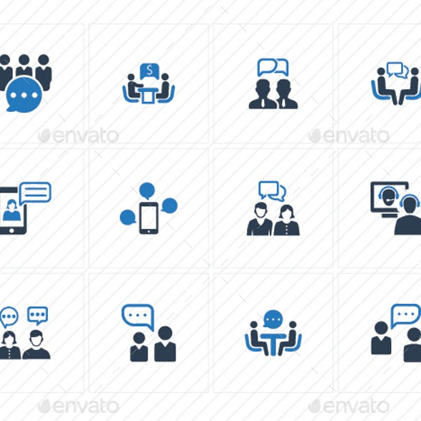 Discussion Icons - Blue Version