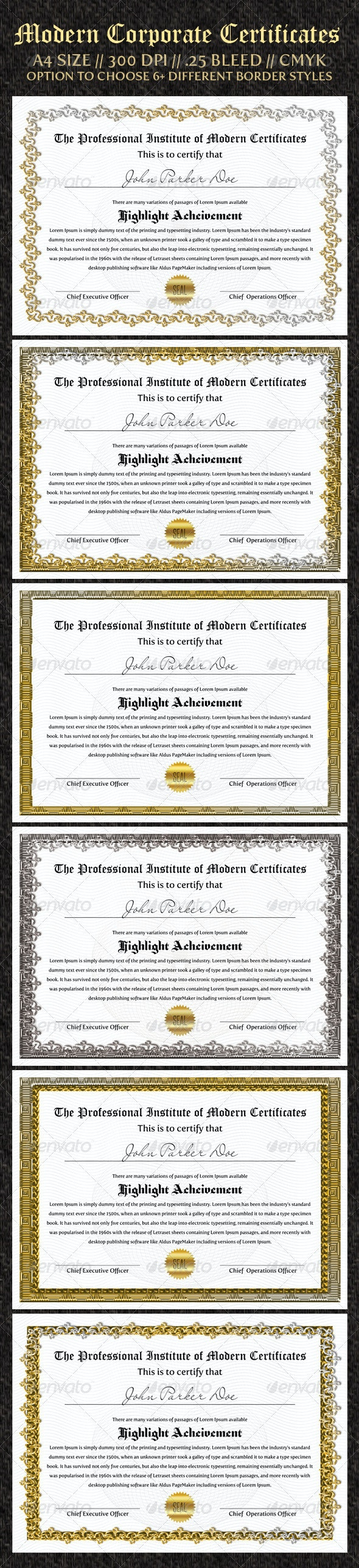 Corporate Certificates - Certificates Stationery