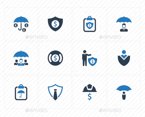 Business Security Icons - Blue Version - Business Icons