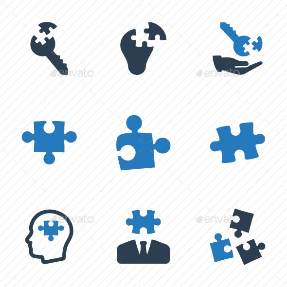 Business Solution Icons - Blue Version