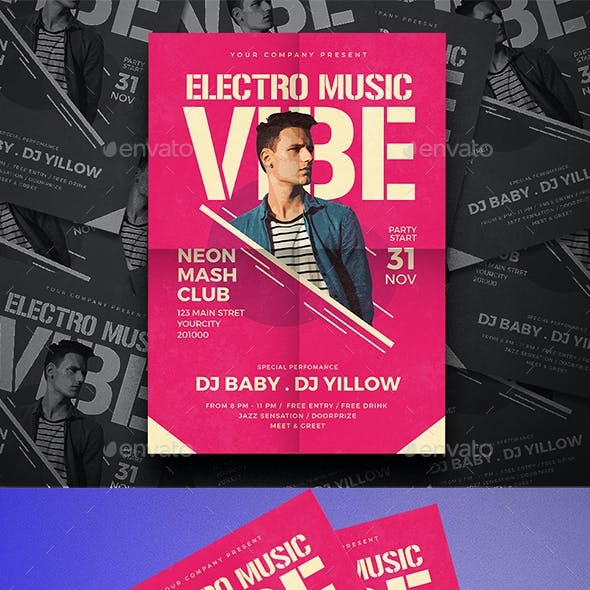 Electro Party Music Flyer