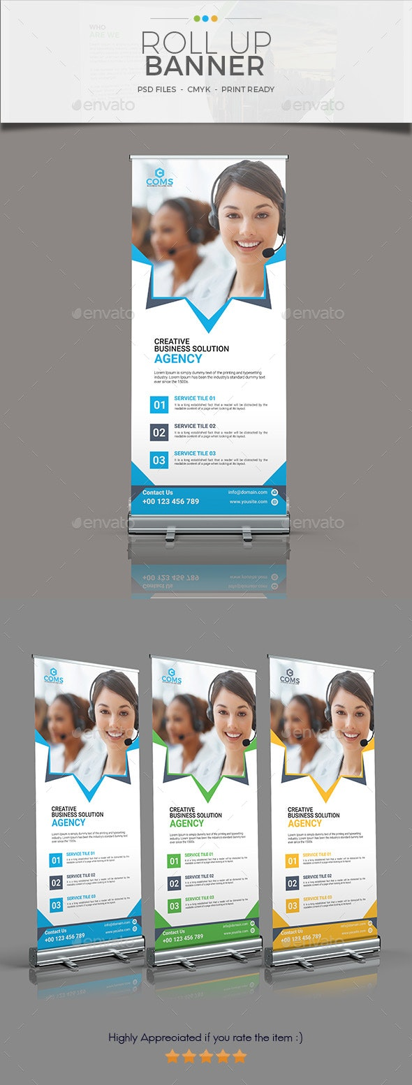 Corporate Roll Up Banner 05 - Signage Print Templates