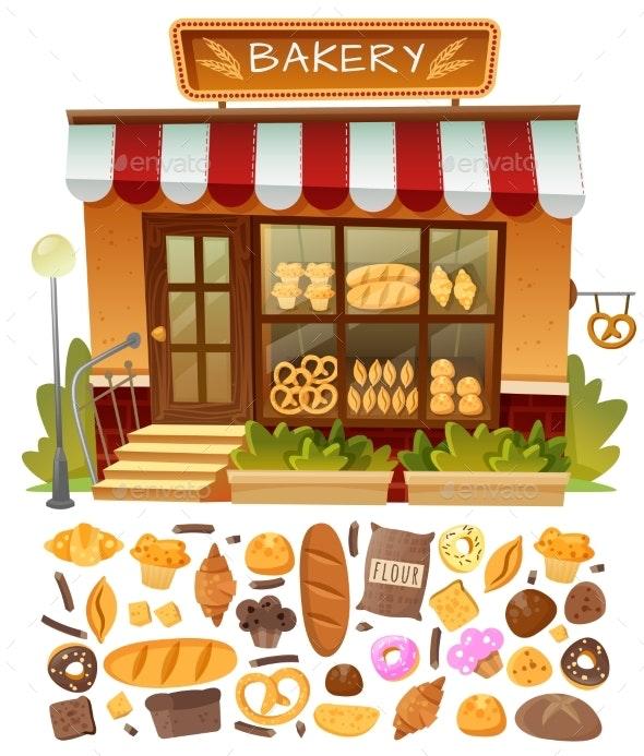 Bakery Shop Facade - Food Objects