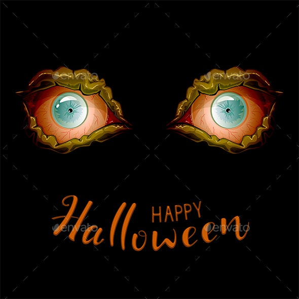 Scary Eyes For Halloween By Losw Graphicriver