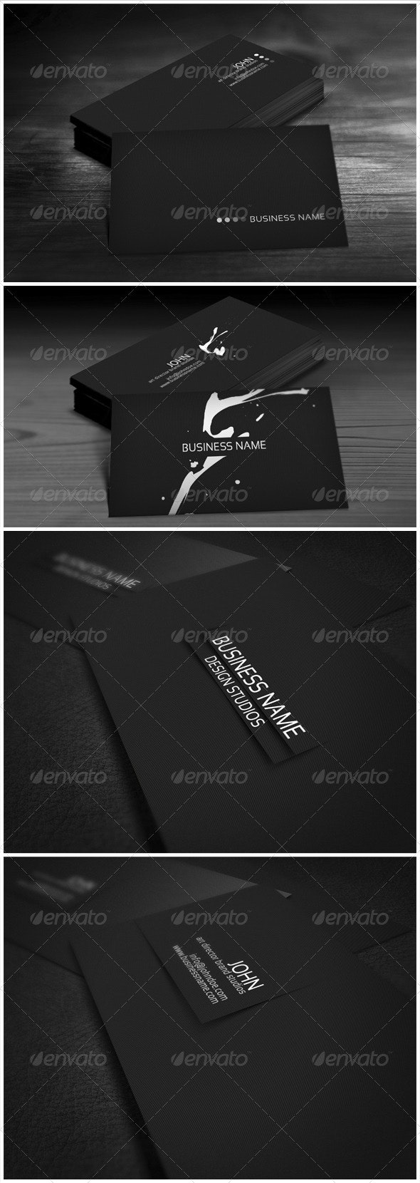 Black Bundle Business Cards - Corporate Business Cards