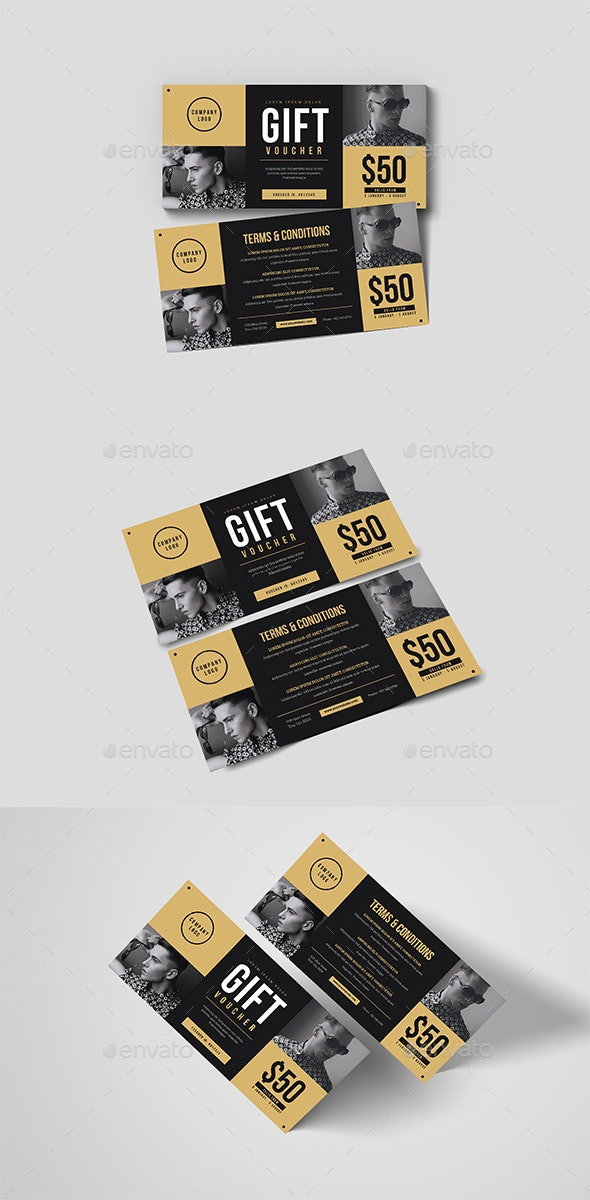 Hipster Voucher - Cards & Invites Print Templates