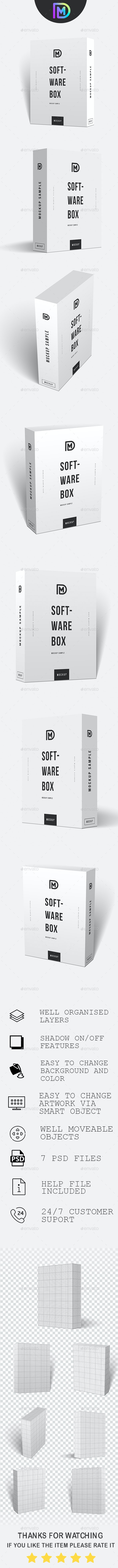Software Box Packing Mockup - Miscellaneous Packaging