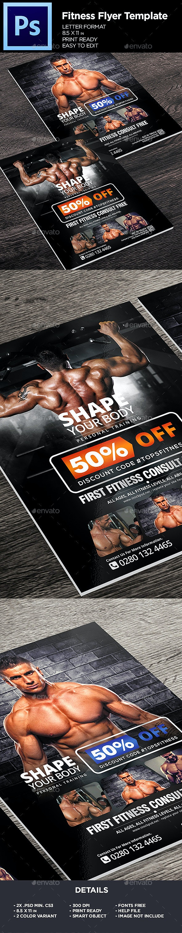 Fitness Flyer - Gym Business Flyer Template - Sports Events