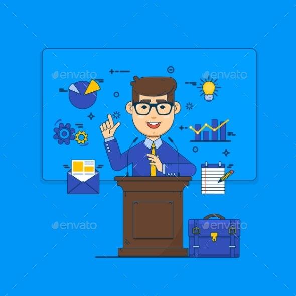 Public Speaking Concept - Concepts Business