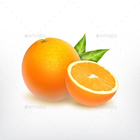 Orange Fruit and Orange Slice - Food Objects