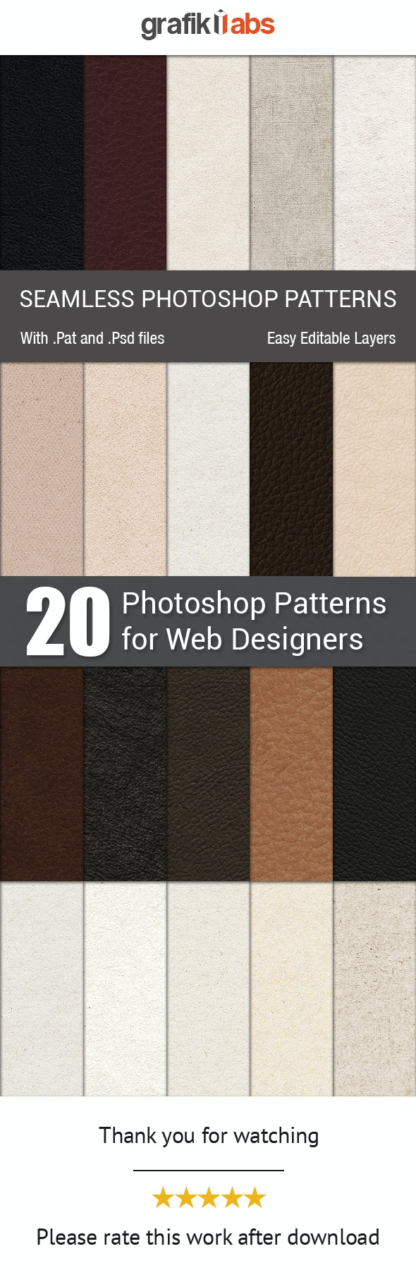 Seamless Patterns for Designers - Textures / Fills / Patterns Photoshop