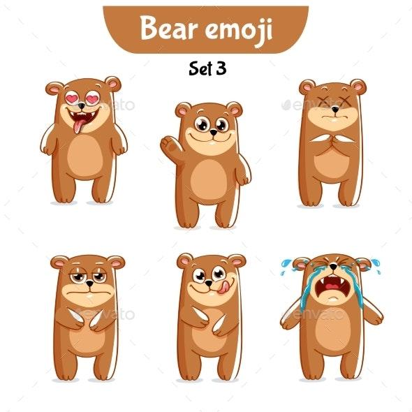 Bear Characters Set 3 - Miscellaneous Vectors
