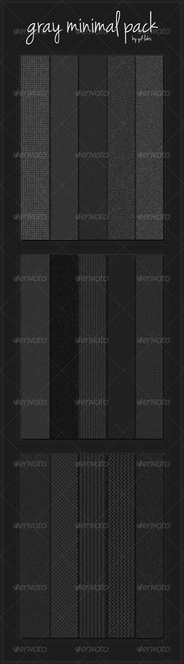 Gray Minimal Pack - Patterns Backgrounds
