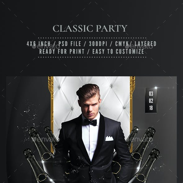 Classic Black Party Flyer
