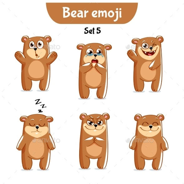 Set of Bear Characters Set 5 - Animals Characters