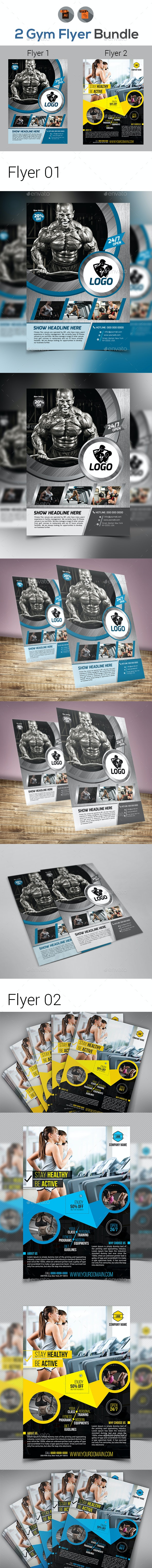 Fitness & Gym Flyers Templates - Sports Events