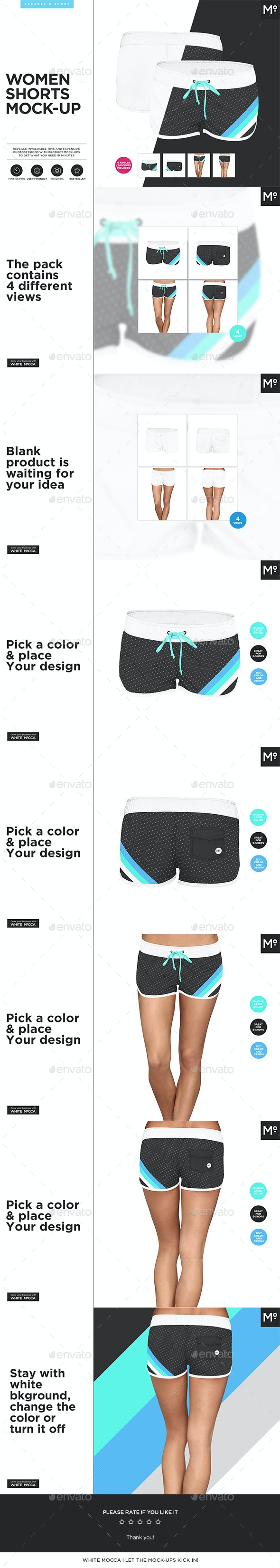 Women Shorts Mock-up - Miscellaneous Apparel