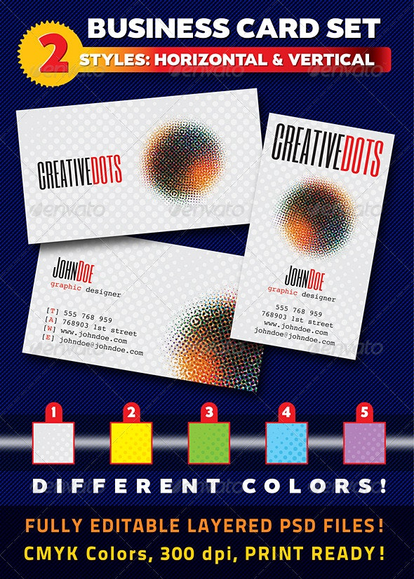 Creative Dots Business Card Set - Creative Business Cards