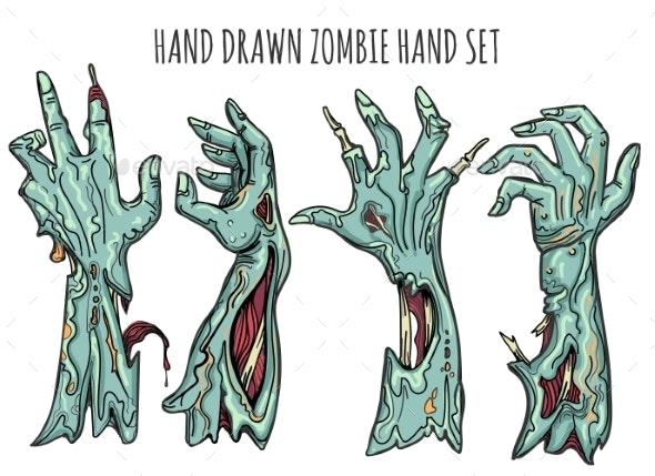 Zombie Hand Set - Miscellaneous Vectors
